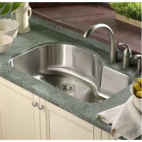 undermount single bowl kitchen sink 32 inch stainless steel undermount offset single bowl 8735