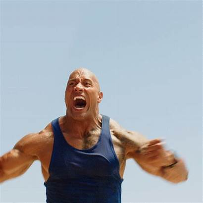 Strong Rock Muscles Gifer Johnson Dwayne Baywatch