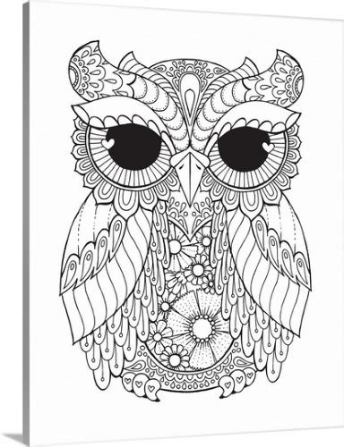 angel solid faced canvas print wall art print entitled owl iii owl coloring pages