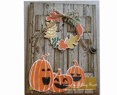 Fall Stampin Cards Fest Halloween Card Framelits