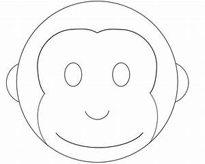 best photos of monkey face mask template monkey face With monkey face template for cake