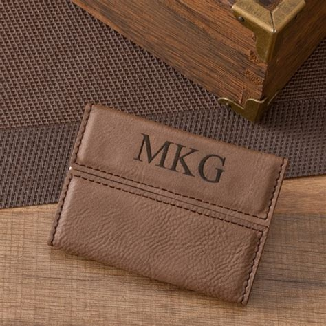 You can download free business card psd files on pngtree. Personalized Brown Business Card Holder (Easy to Order ...