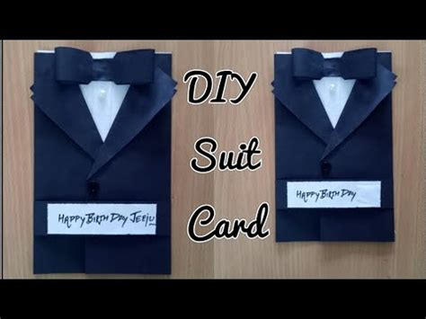 Tuxedo T Shirt Template by Diy Suit Jacket Tuxedo Birthday Card How To Make