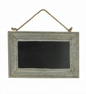 """Metal Chalkboard with Rope 15"""" x 10"""""""