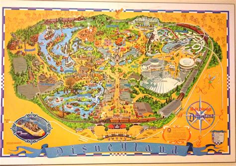 disneyland map  guidebook  space mountain