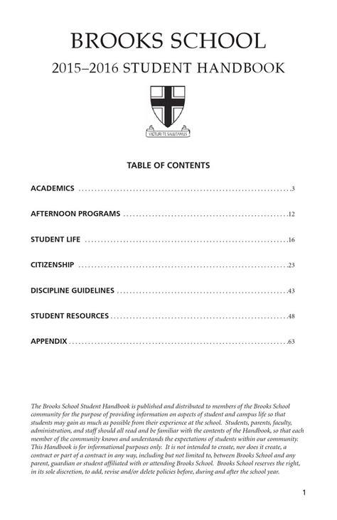 Student Handbook 2015-2016 by Brooks School - Issuu