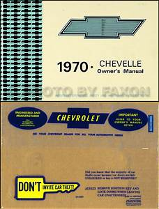 1970 El Camino And Chevelle Owners Manual With Envelope Ss