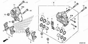 Honda Motorcycle 2011 Oem Parts Diagram For Front Brake