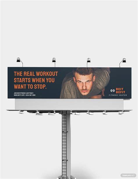 fitness billboard template   billboard fitness