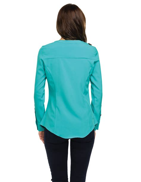fitted blouses server fitted stretch blouse sharperuniforms com