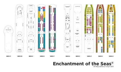 Enchantment Of The Seas Deck Plan 8 by Royal Caribbean International Enchantment Of The Seas