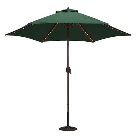 our 9 led lighted patio umbrella in beige now on sale for