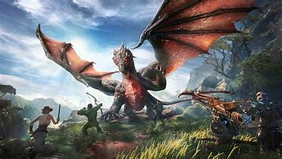 Ark Park Dragon Warriors Background Desktop