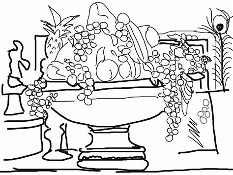 Free Printable Coloring Pages Of Fruit Bowls