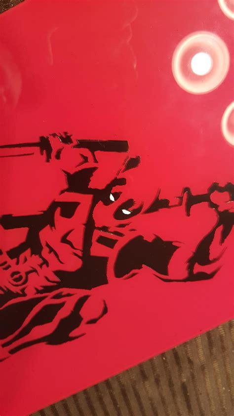 deadpool  spray paint  glass fun project fun