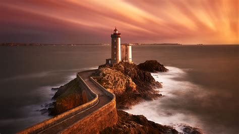 lighthouse sunset  wallpapers hd wallpapers id