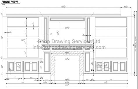 millwork archives page    shop drawing services