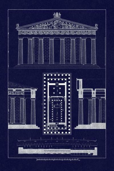 buhlmann  parthenon  athens blueprint art