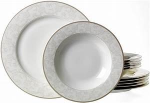Service Porzellan Weiß : via by r b tafelservice porzellan 12 teile isabella online kaufen otto ~ Markanthonyermac.com Haus und Dekorationen
