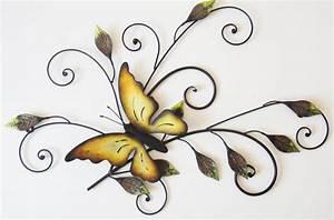 Decoration Murale Fleur : d co murale en m tal id es avant garde ~ Teatrodelosmanantiales.com Idées de Décoration