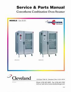 Cleveland Range Convection Oven Gas 20 20 User Manual