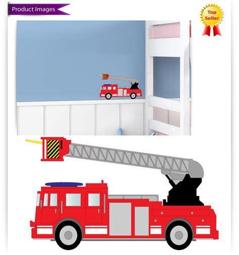fire engine nursery bedroom vinyl wall stickersdecals