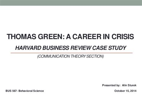 Harvard Business Review Case Study