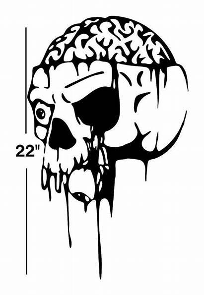 Stencil Skull Demon Stencils Decal Metal Decals