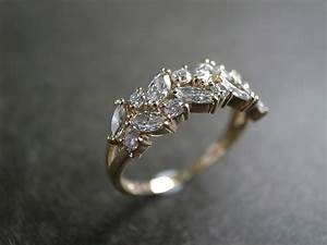 marquise wedding ring engagement ring diamond ring With solitaire ring with diamond wedding band