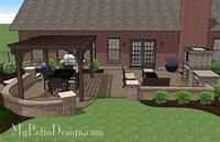 patio design pictures Traditional Patio Design with Pergola and Fireplace – MyPatioDesign.com