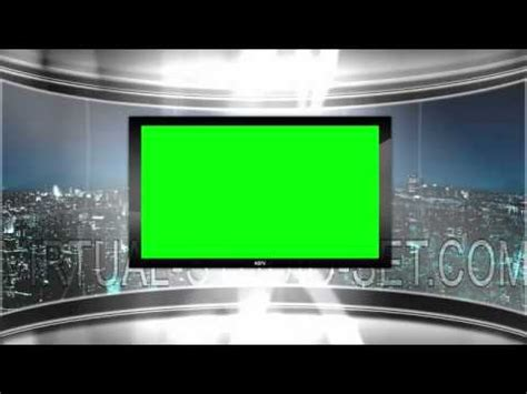 hd virtual tv studio news set  city skyline