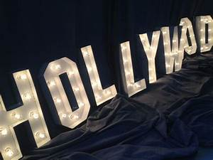 41 best images about old hollywood party on pinterest for Hollywood light up letters