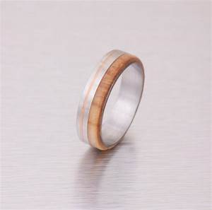 wood wedding ring titanium wedding band men39s engagement With copper wedding rings