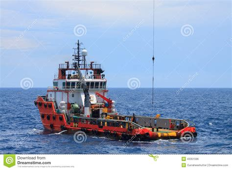 Offshore Drilling Boats by Crew And Supply Vessel Offshore Or Supply Boat Stock