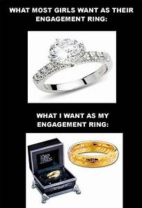 girls engagement ring expecations vs reality With wedding ring joke