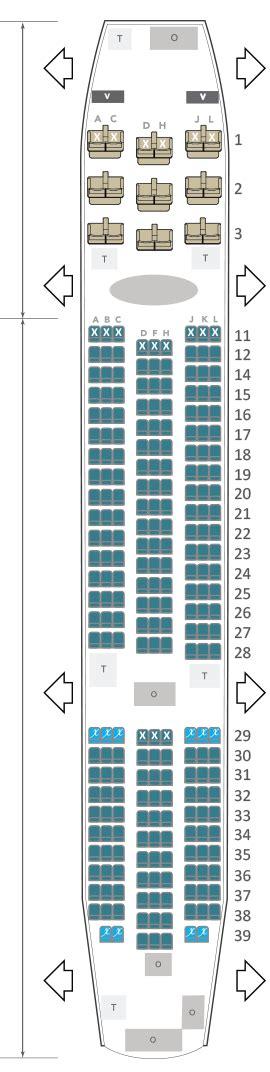 plan siege boeing 777 300er 100 images seatguru seat
