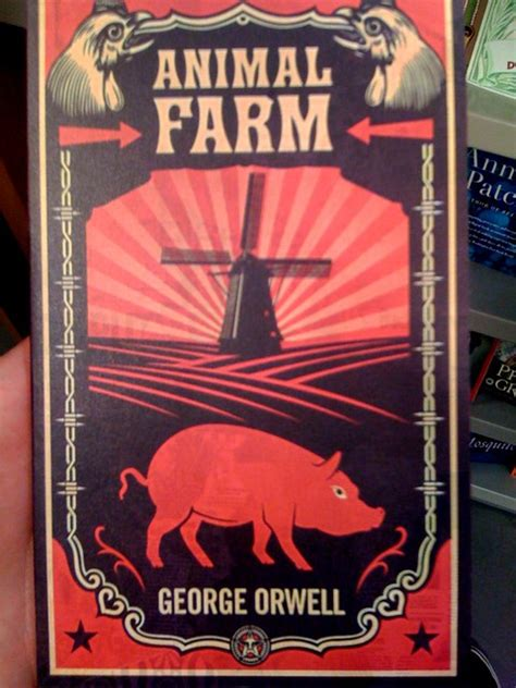 awesome canadian cover  animal farm  shepard fairey