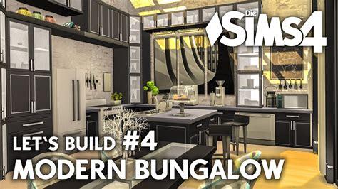 Haus Modern Einrichten by K 252 Che Einrichten Die Sims 4 Haus Bauen Modern Bungalow