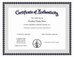 certificate of authenticity templates download free With certificate of authenticity autograph template