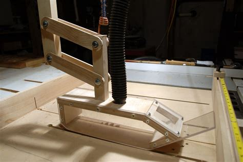 Over Blade Dust Collection For Table Saw  By Lumberpunk