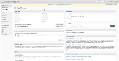 Wordpress Dashboard log   wordpress dashboard inmotion 1584 x 814 · jpeg