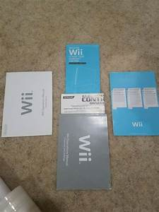 New Nintendo Wii System Console User Operations Manual