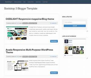 template blogger simple responsive dengan bootstrap blog With bootstrap 3 email template