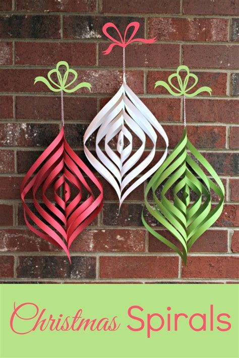 diy christmas spirals  inexpensive  simple