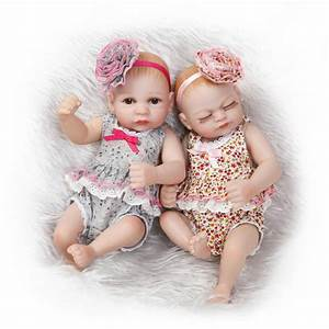 11 Inch Cute Twins Babies Reborn Baby Girl Dolls Full ...