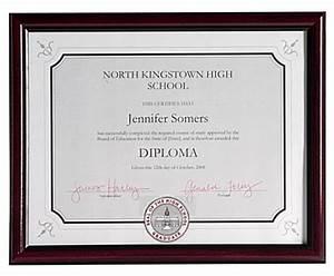 mahogany document frames wall mounted With mahogany document frame