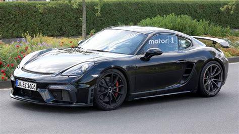 2019 Porsche 718 Cayman Gt4 Spied Nearly Naked