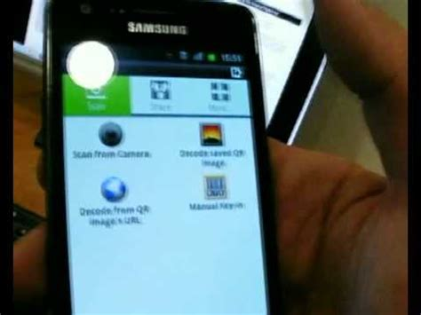 how to use qr code reader android phone samsung galaxy youtube
