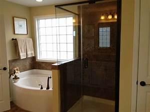 Master Bath With Separate Tub  U0026 Shower