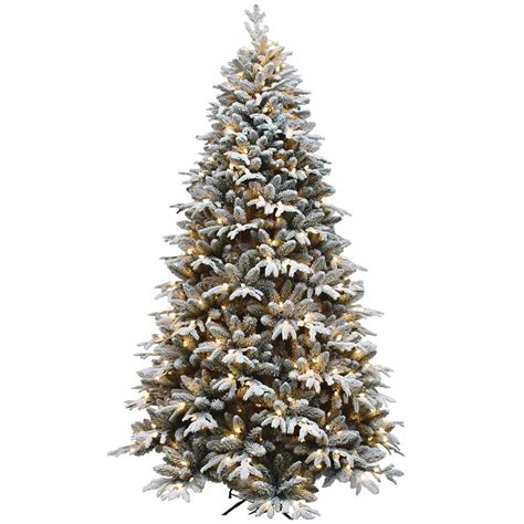 morrisons fake christmas trees fraser hill farm 9 ft pre lit led flocked mountain pine artificial tree with 800